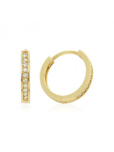 14Kt. Guld Creoler med 20 Brillanter 0,10ct. W/SI EA083195