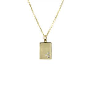 Vedhæng sølv forgyldt MUNA zirkonia med kæde 2040270