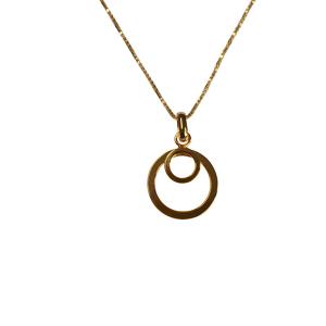 Vedhæng sølv forgyldt cirkler med kæde 204446-V
