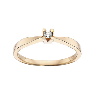 Kleopatra Rødgulds Ring i 0,05ct. 7135.05
