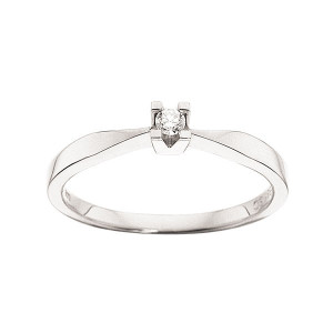 Kleopatra Hvidgulds Ring i 0,05ct. 7136.05