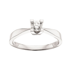 Kleopatra Hvidgulds Ring i 0,25ct. 7136.25