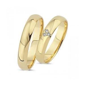 Forlovelses- eller vielsesringe i 14kt. A4002