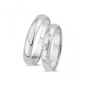 Forlovelses- eller vielsesringe i 14kt. Hvidguld A4003H