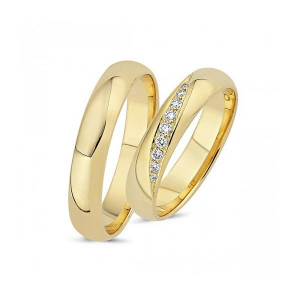 Forlovelses- eller Vielsesringe i  14kt. A4019