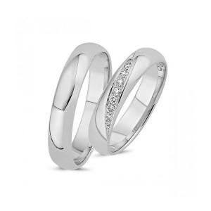 Forlovelses- eller Vielsesringe i 14kt. Hvidguld A4019H