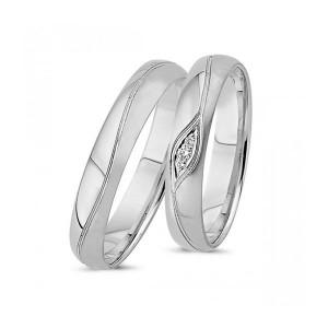 Forlovelses- eller vielsesringe i 14kt. Hvidguld A4055H