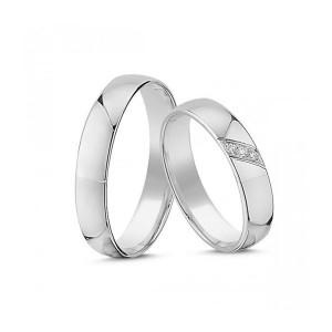 Forlovelses- eller Vielsesringe i 14kt. Hvidguld A4131H