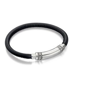 Armbånd Sølv-Læder Herre B4744