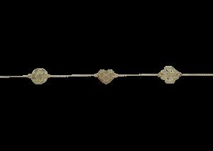 14Kt Guld Armbånd Med 3 Mønster 1G205FL30219