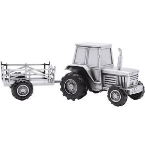 Sparebøsse Fortinnet Traktor m. Vogn 152-76904
